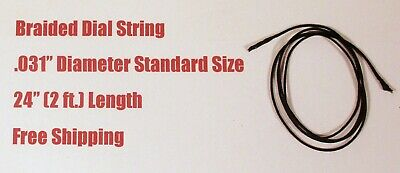 "24"" Dial Cord Braided Nylon Tuner String  - Old Antique Vintage Tube Radio"