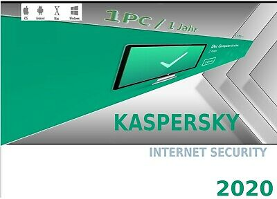 Kaspersky Internet Security 2020 1 Gerät 1 Jahr Antivirus Multi Device Rechnung