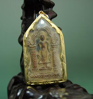 old collect thailand ayutthaya maitreya buddha incense ash card statue /01 c01