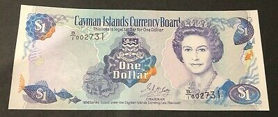 1996 Cayman Islands One Dollar Bank Note. $1. Pick 16a. UNC. Perfect note.
