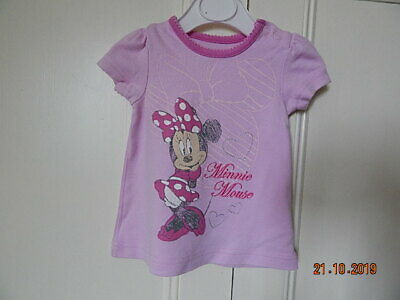 Disney Minnie Mouse Baby Girls Cute Pink Top 0-3 M Cotton
