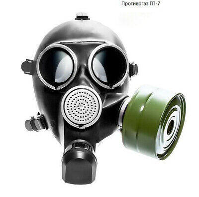 Original Authentic Soviet Russian Army Gas mask GP-7 BLACK SIZE 3