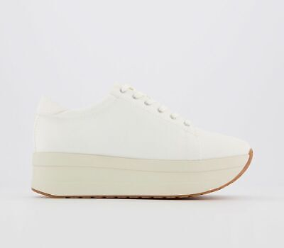 Womens Vagabond Casey Flatform Trainers Off White Trainers Shoes