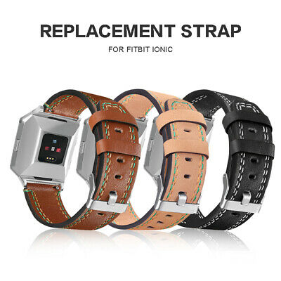 Replacement Leather Band Sports Smart  Bracelet Wrist Strap For Fitbit Ionic