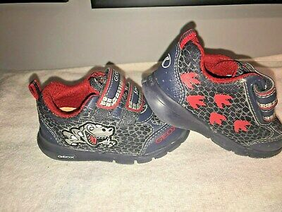 Geox Sport Toddler Boys Size 5.5 Shoes Velcro With Lights