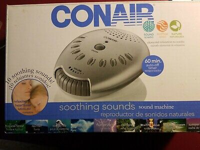 CONAIR SU1W Sound Therapy Sound Machine Soothing Sleep Background Noise Nature