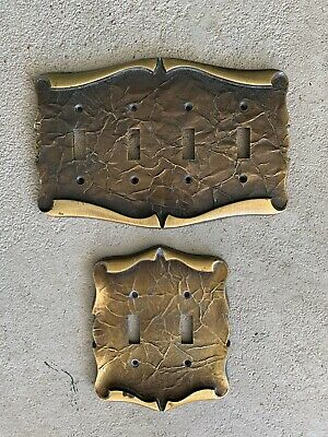 VINTAGE Amerock Carriage House Double And Quad  Switch Plate Covers