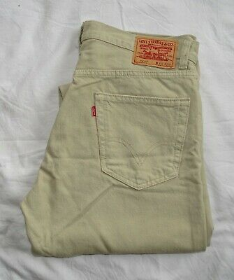 Levi's 505 Chino Trousers Jeans Beige