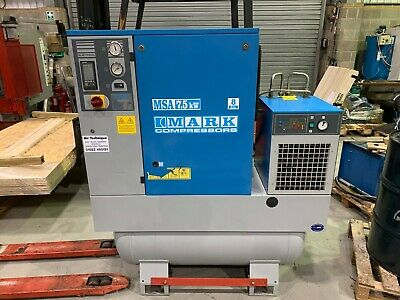 MARK MSA 7.5 RECEIVER MOUNTED ROTARY SCREW COMPRESSOR & DRYER 40.7CFM, 7.5kW