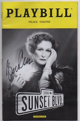GLENN CLOSE signed SUNSET BLVD playbill AUTOGRAPH IN PERSON auto EXACT PROOF