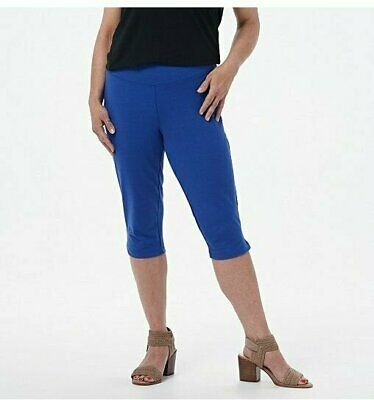 Wicked by Women with Control Petite XL Pedal Pusher with Side Slits Ultramarine