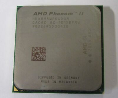 AMD HDXB95WFK4DGM Phenom II X4 B95 3.0GHz Quad Core Socket AM3 CPU Processor