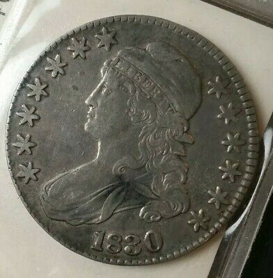 1830 50c Capped Bust Silver Half Dollar