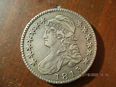 1813 Capped Bust Half Dollar  /  fifty cents