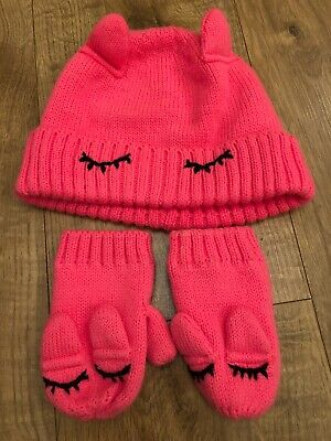 Next Hat And Gloves Set Pink Unicorn