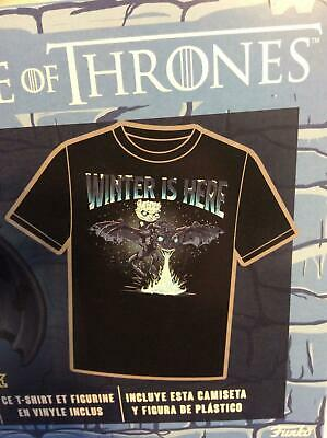 Funko POP! Tee Game of Thrones Icy Viserion Size Small (S) Box Lunch Exclusive