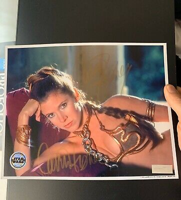 Star Wars Carrie Fisher Signed Official Pix Opx Photo Autograph Princess Leia