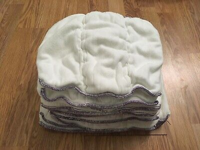 Lot of 11 Diaper Rite Bamboo Prefolds - Purple Edge (Small?) Cloth Diapers