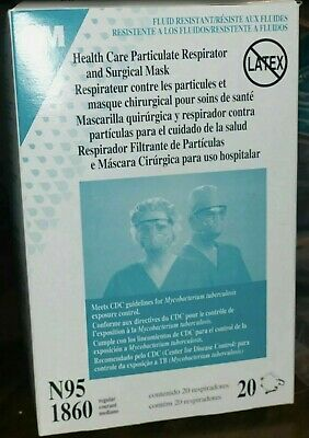 EXPIRED 3M 1860 N95 RESPIRATOR AND SURGICAL MASK Box of 20