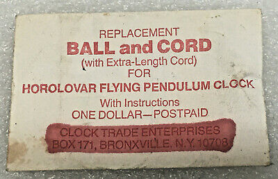 Replacement Ball and Cord for Horolovar Flying Pendulum Clock parts
