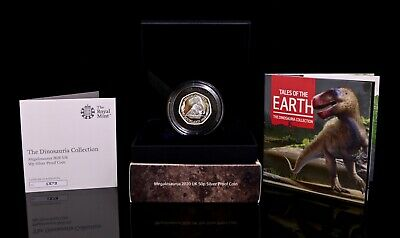 2020 Megalosaurus Dinosaur Silver Proof 50P Fifty Pence Coin Limited Ed 3000