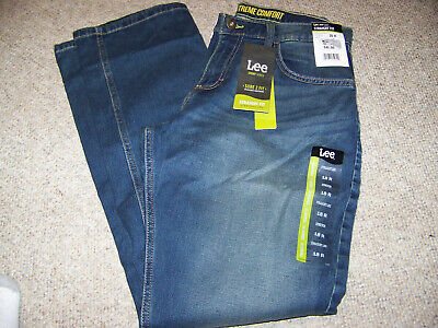 Boys size 18 regular blue jeans Lee x-treme comfort active stretch sure to fit
