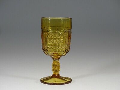 EAPG Bryce Brothers #79 Amber Cathedral Goblet c.1885