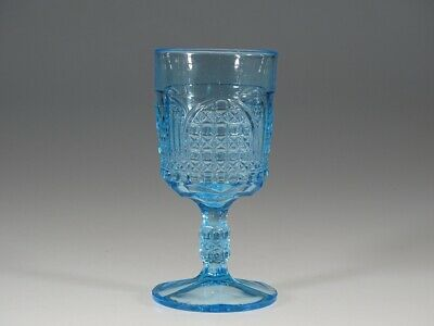 EAPG Bryce Brothers #79 Blue Cathedral Goblet c.1885