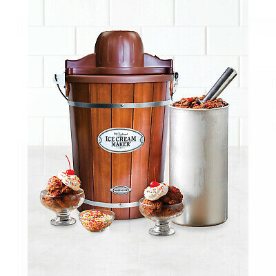 Nostalgia ICMP600WD 6-Qt. Wood Bucket Ice Cream Maker