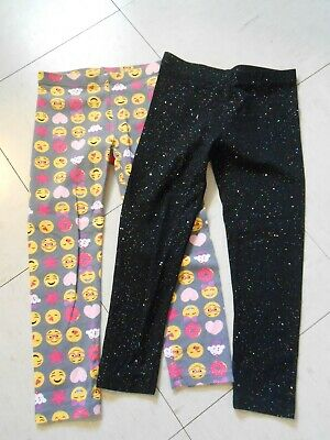 Lot Of 2 Girls Faded Glory Leggings Size Xs 4-5