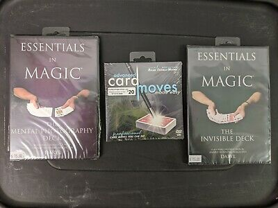 3 DVD deal ~ CARD MAGIC TRICKS ~ Daryl Professional Magician Lots Wholesale