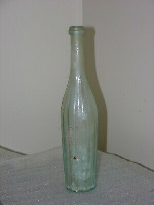 """Rare and Unusual Old Glass Bottle -- Intact with Iridescence -- 12"""" Tall"""