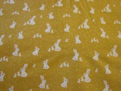 Cotton Tail Mustard Flannelette Fitted Cot Sheet Handmade