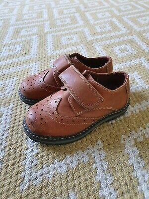 NEXT boys Size 7 brown Leather Brogues (Formal Shoes) Worn Once