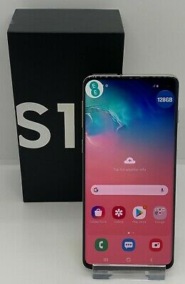 Samsung Galaxy S10 on EE Model SM-G973F 128GB in Prism Silver Boxed Dual SIM