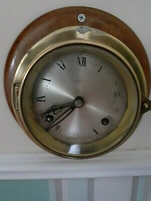FRANZ HERMI SHIPS BELL STRIKING CLOCK 8 day key wind