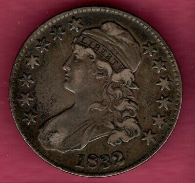 1832 Small Letter Capped  Bust Half Dollar Grades Very Fine #C2337