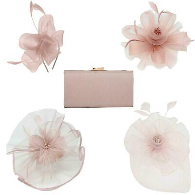Sinamay Fascinator and Matching Bag Wedding Race Royal Ascot Headband Aliceband