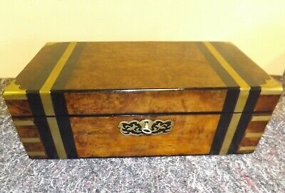 Early Victorian Sea Captains Walnut Writing Slope Box.
