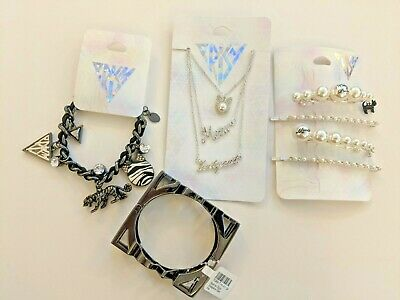 Katy Perry Rainbow Chain Link Stackable Ring Bands Set of 6 Prism Collection Sz6