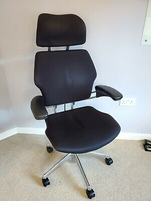 Humanscale Freedom Ergonomic Office Chair in Black Fabric & Chrome