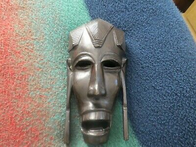 """10"""" African tribal wooden mask hand carved wall hanger"""