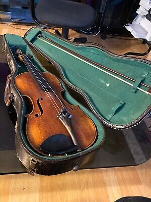 Vintage 1960s Violin With Ess & Ess Case Old With Old Bow Used