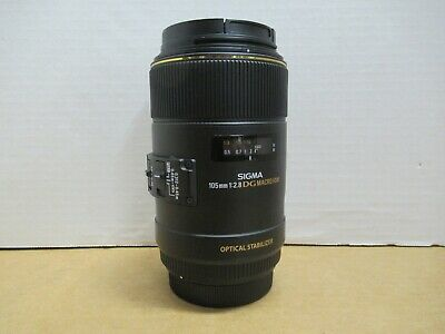 Sigma 105Mm F:2.8 Dg Macro Hsm Optical Stabilizer Camera Lens For Canon
