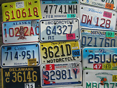 Motorcycle License Plate Almost All States Available Plates MC (Pick Your Tag)