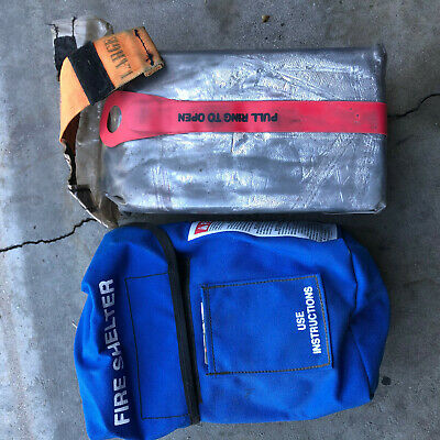 Unopened Surplus Fire Shelter Fire Protection With Case!