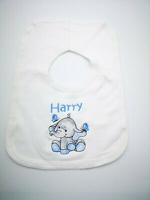 Personalised Embroidered Baby, Toddler, Bib, ANY NAME, Gift, Baby Shower, Cute..
