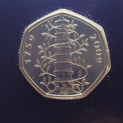1759-2009 50p Real Fifty Pence Coin Gen Kew Gardens Uncirculated, Sealed,BUNC.