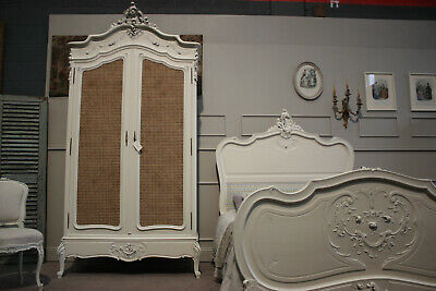 French Louis XV Shabby Chic Armoire Wardrobe