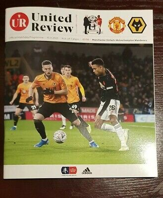 Manchester United v Wolverhampton Wanderers 7/1/2020 Official Matchday Programme